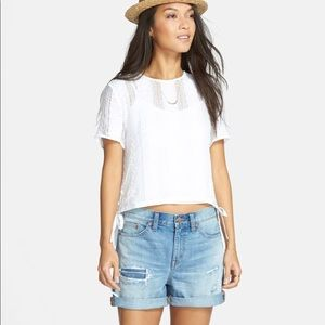 Madewell  distressed high waisted shorts size24